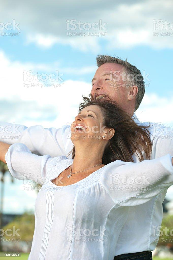 Carefree mature couple royalty-free stock photo