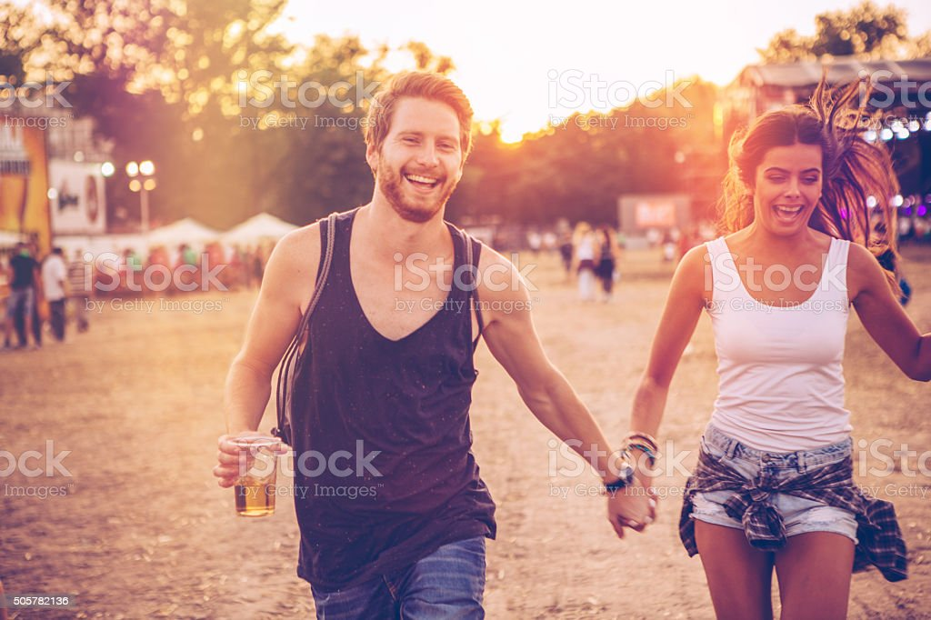 Carefree romance stock photo
