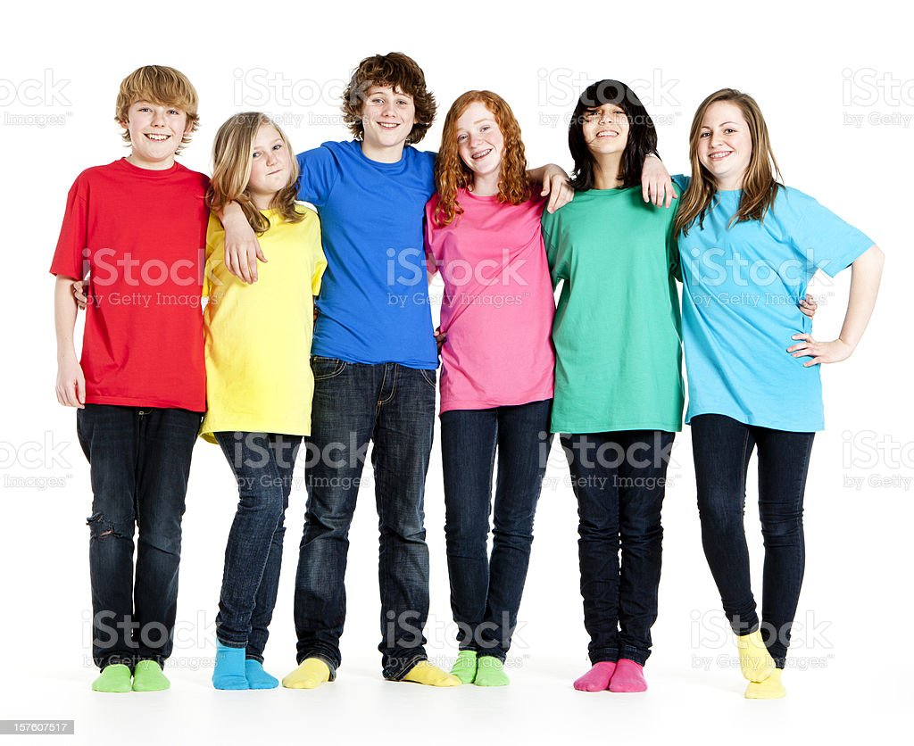 carefree teenagers royalty-free stock photo