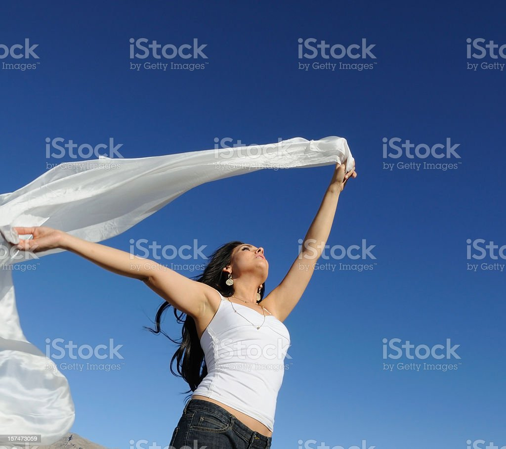 Carefree Woman royalty-free stock photo