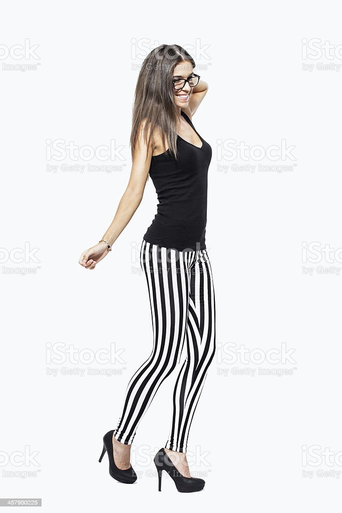 Carefree young woman isolated royalty-free stock photo