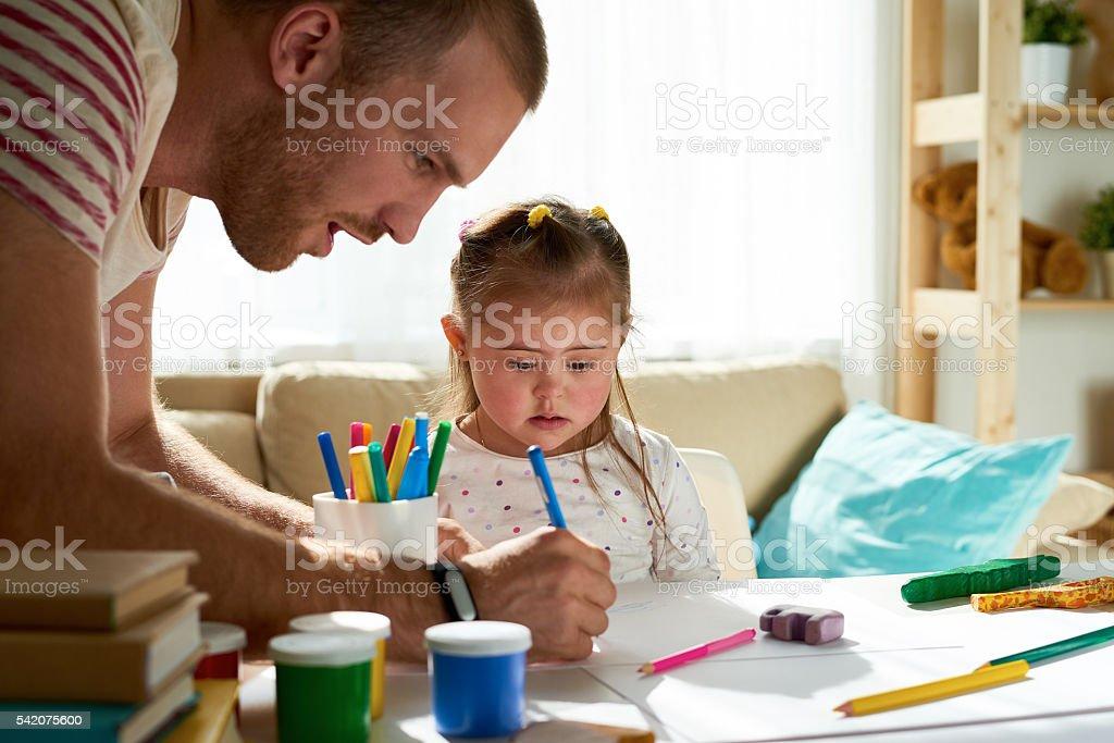 Careful father stock photo