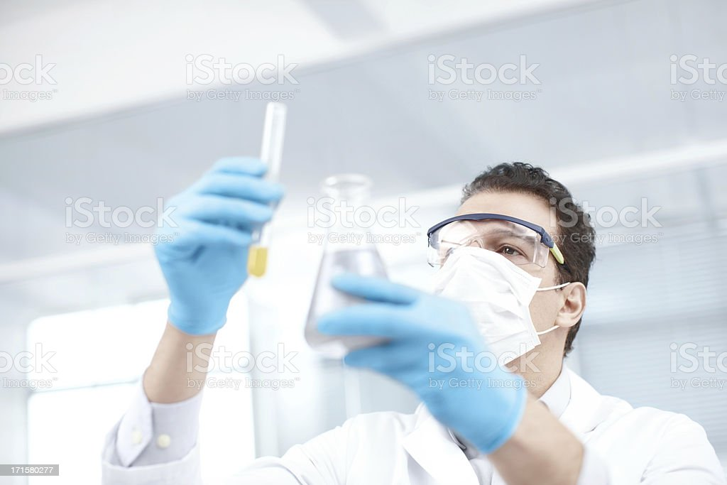 Careful measurements stock photo