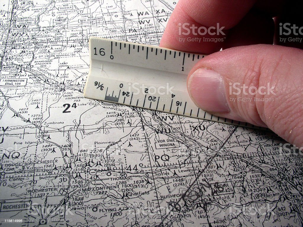 Careful planning - very technical looking stock photo
