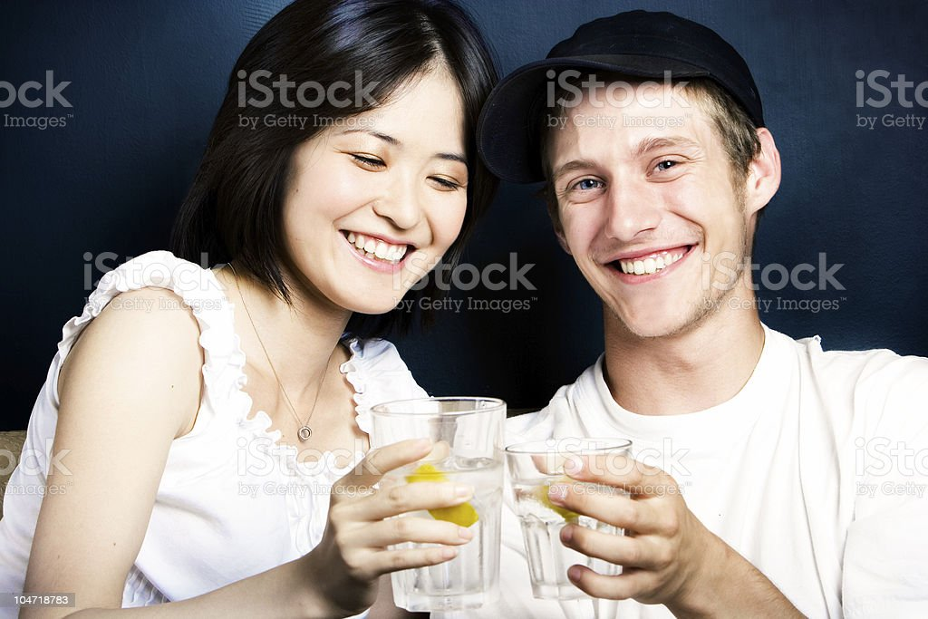 Careful young drivers partying stock photo