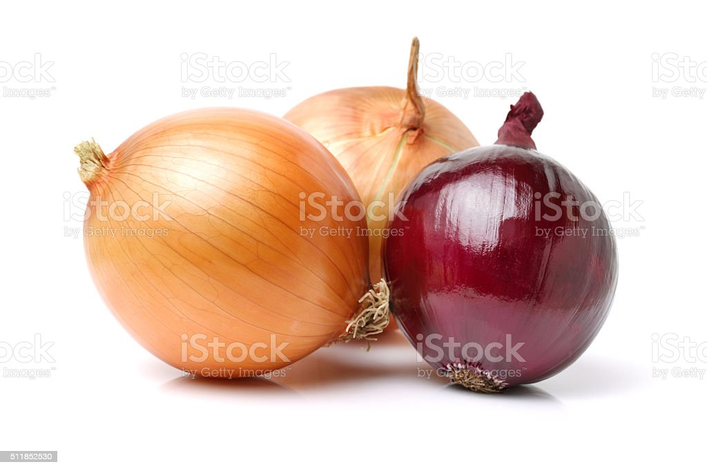 carefully selected onions stock photo