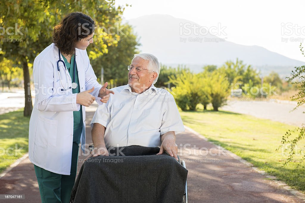caregiver royalty-free stock photo