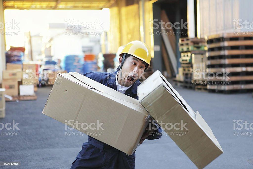 Careless Worker stock photo