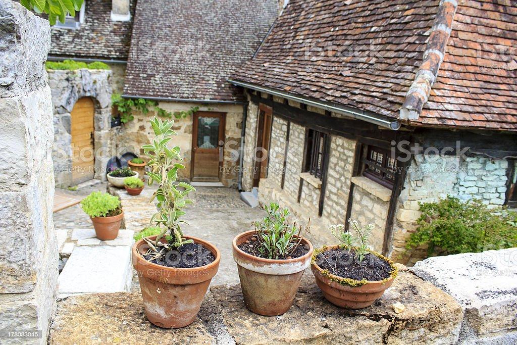 Carennac - French village stock photo