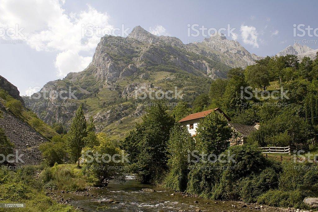 Cares Gorge, Picos De Europa royalty-free stock photo