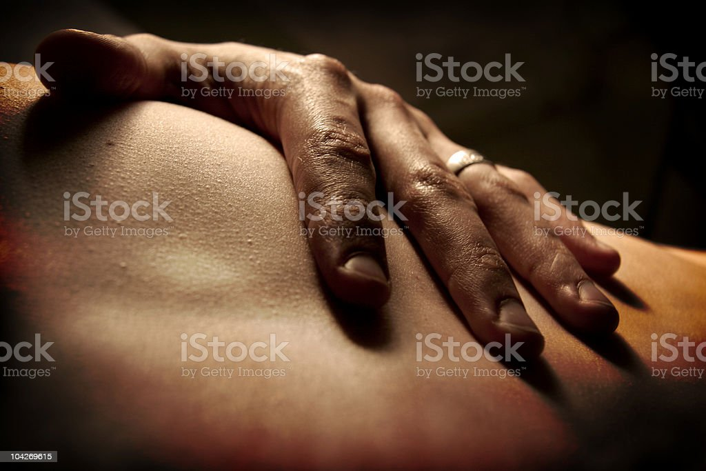 Caressing Hand royalty-free stock photo