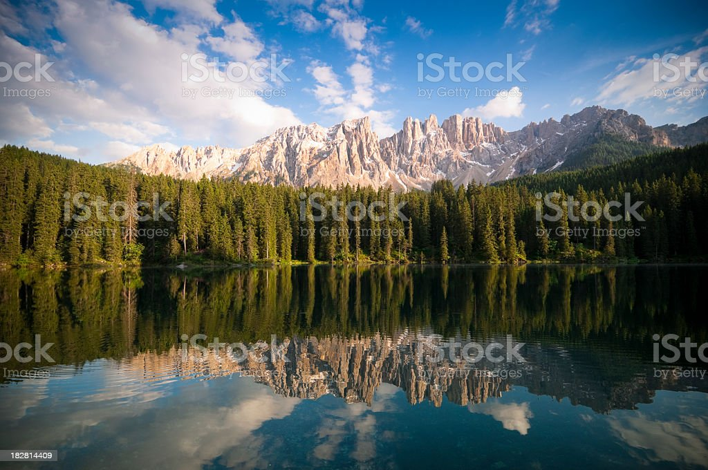 Carezza Lake - Karersee stock photo