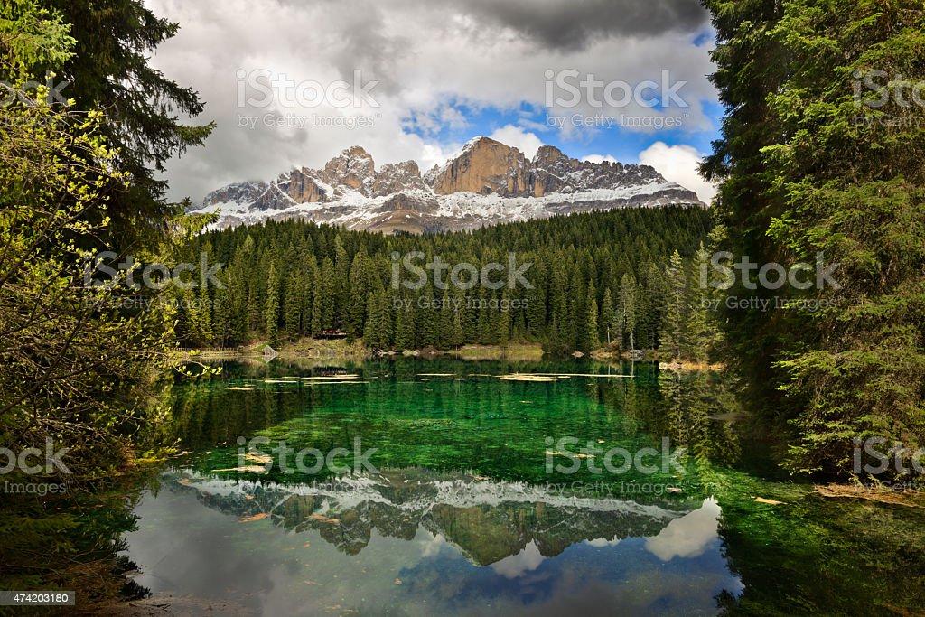 Carezza Lake - Karersee stock photo