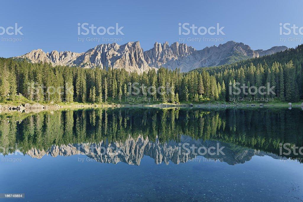 Carezza Lake (Dolomites) royalty-free stock photo