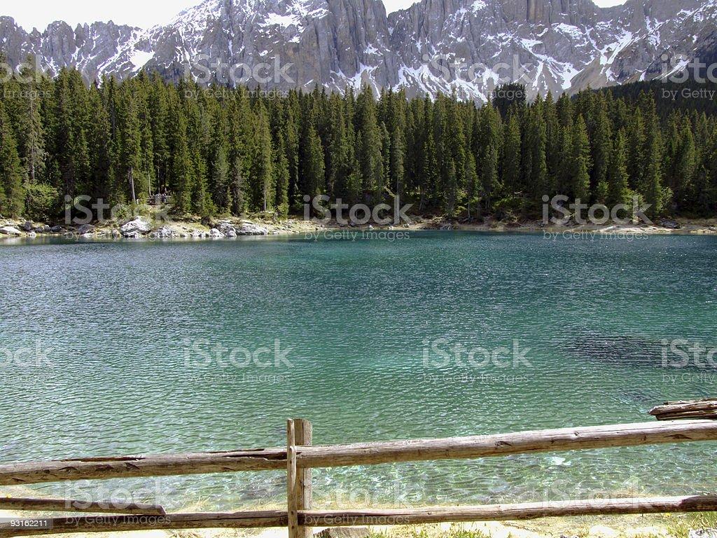 Carezza lake royalty-free stock photo