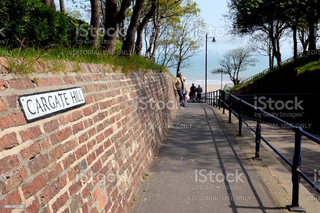 Cargate hill, Filey, Yorkshire. stock photo