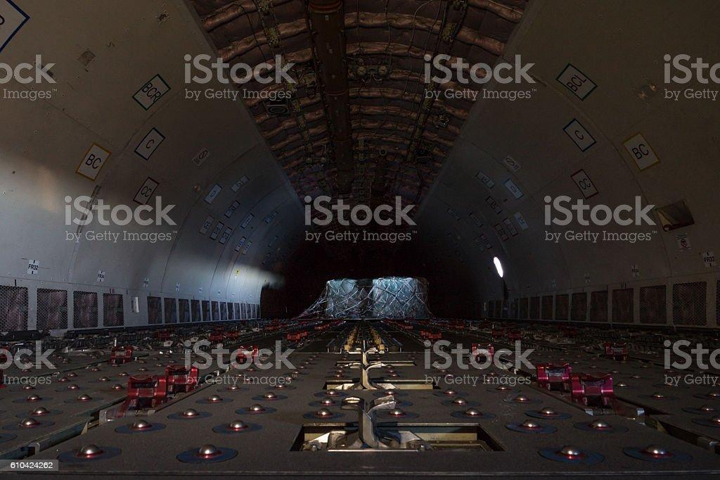 Cargo Aircraft Cabin Interior stock photo
