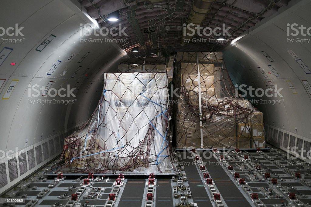 cargo aircraft interior stock photo