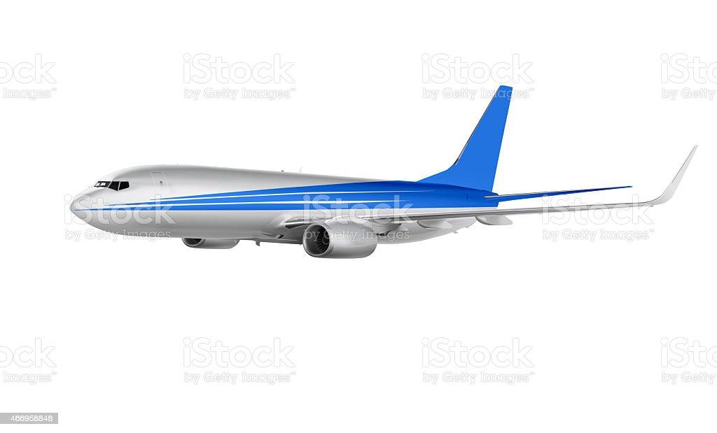 cargo aircraft isolated on white stock photo