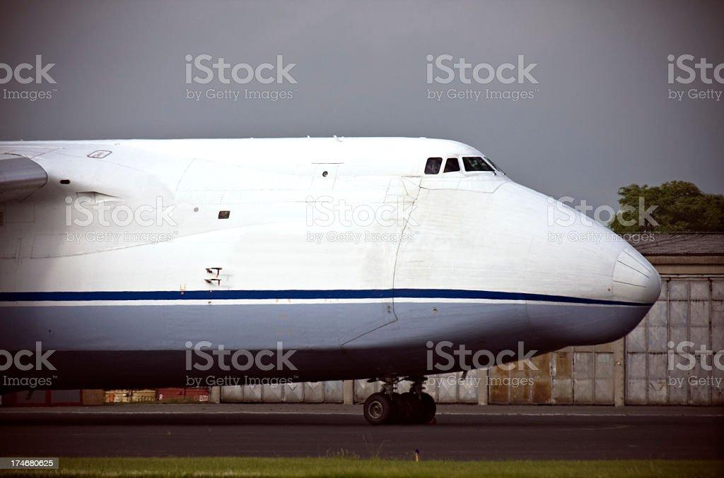 Cargo aircraft stock photo