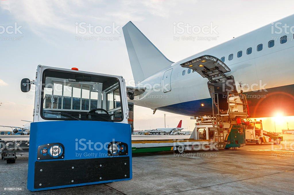 cargo airplane stock photo