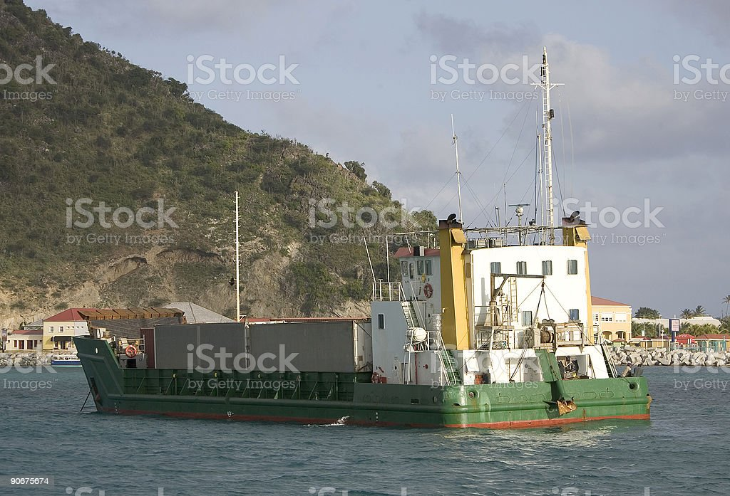 Cargo At Anchor royalty-free stock photo