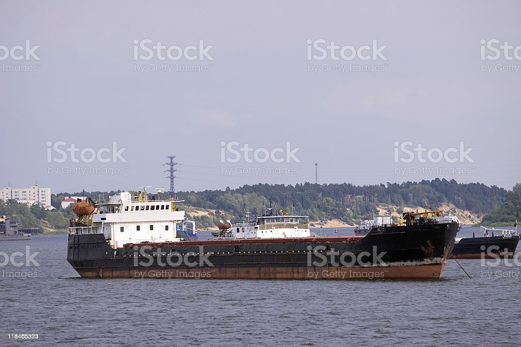 cargo boat royalty-free stock photo