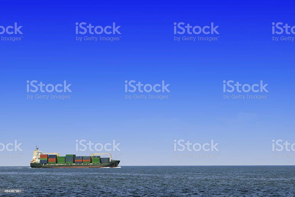 Cargo boat royalty-free stock photo