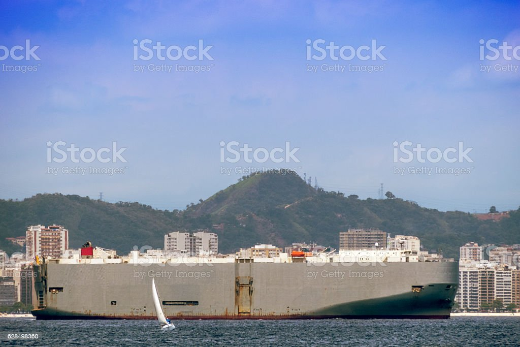 Cargo Boat stock photo