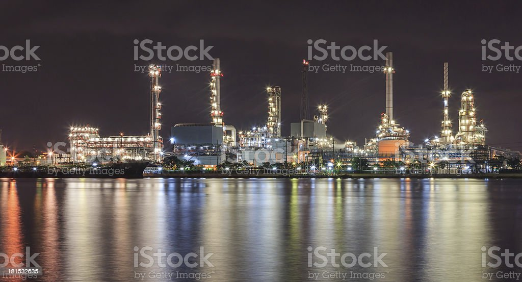 cargo boat with pipeline factory industrial royalty-free stock photo
