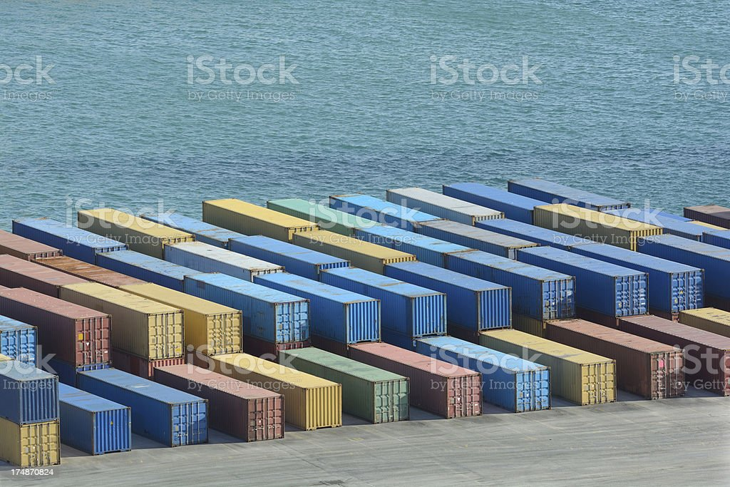 Cargo by the Sea royalty-free stock photo
