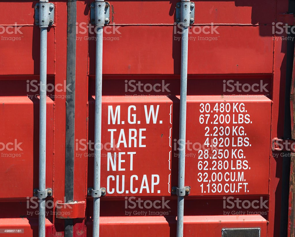 cargo container close-up stock photo