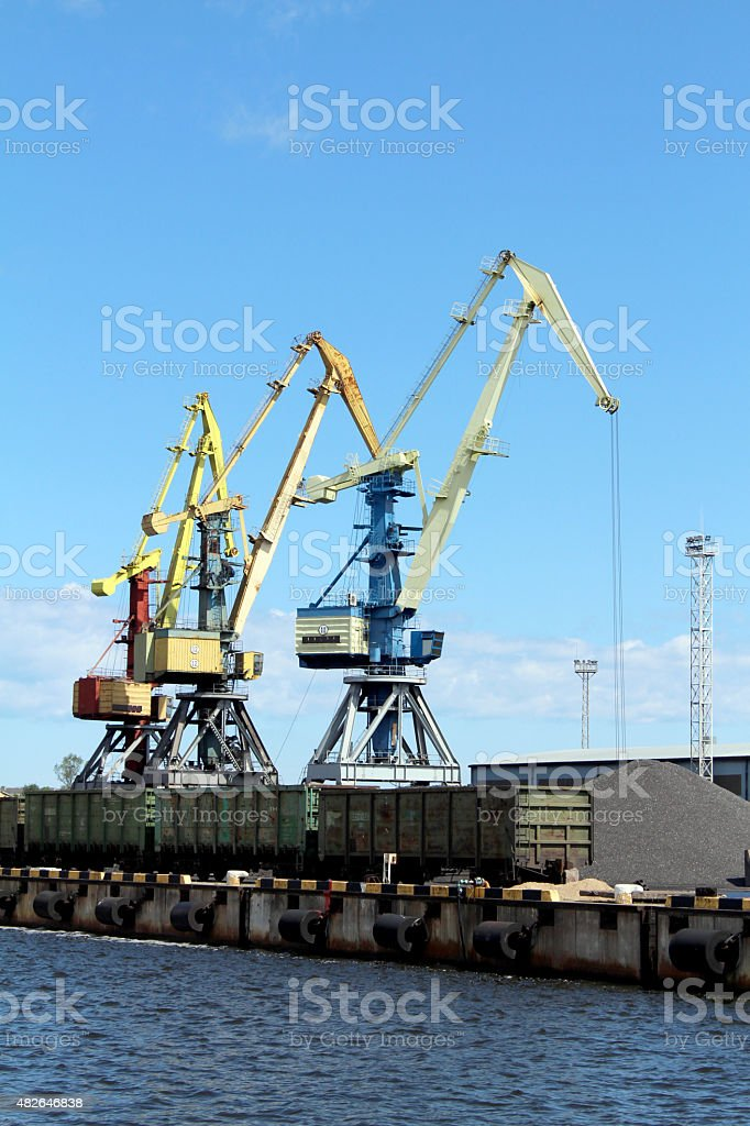 Cargo Container Crane royalty-free stock photo