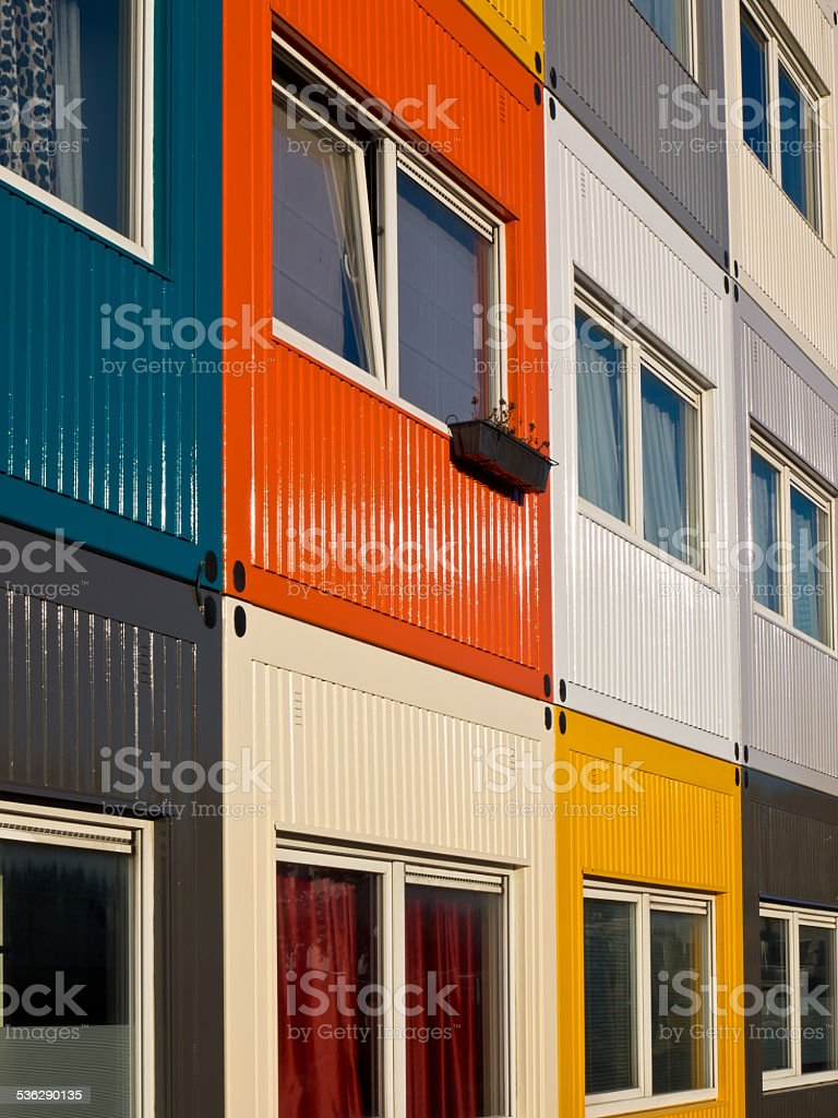cargo container flat stock photo