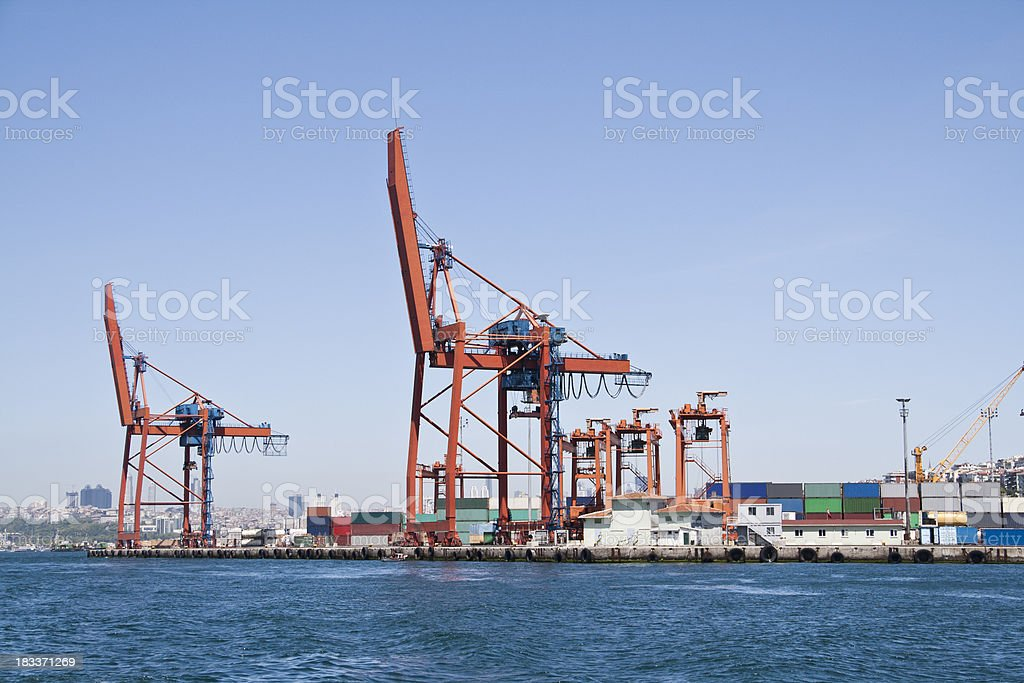 Cargo container harbor royalty-free stock photo