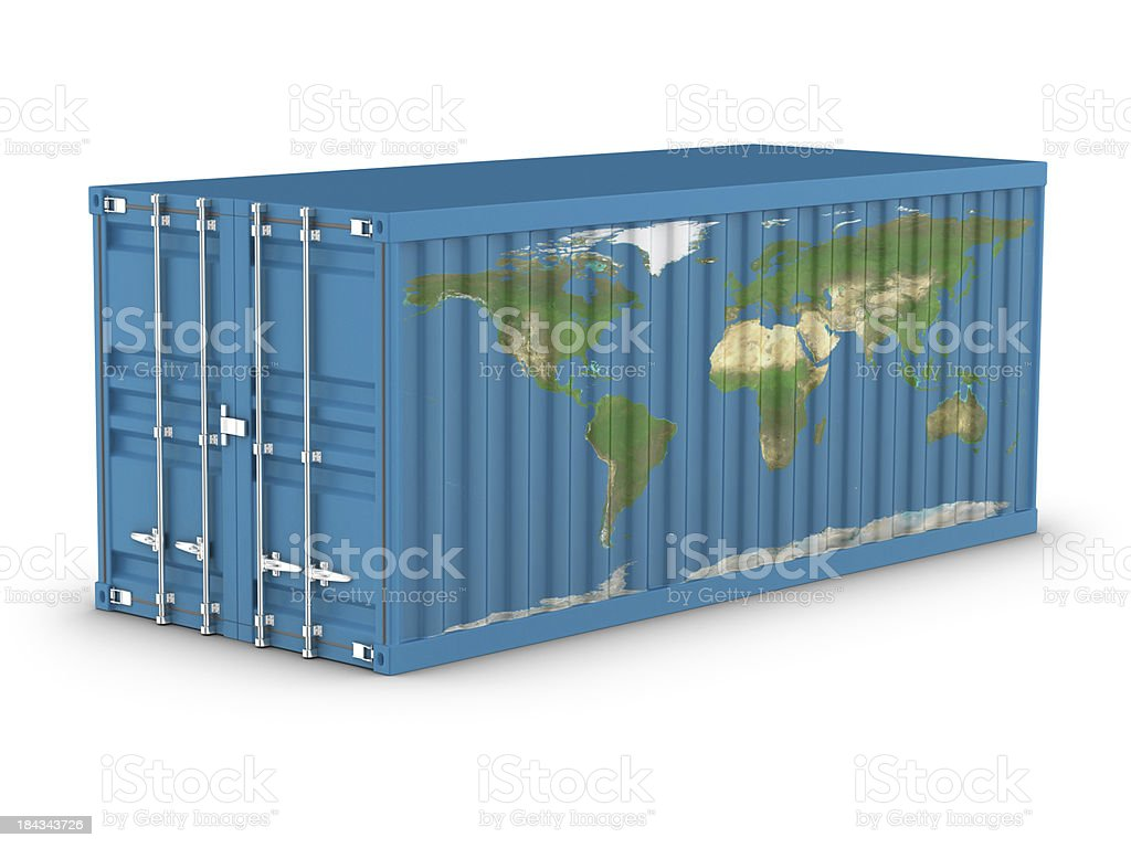 Cargo Container - Planet royalty-free stock photo