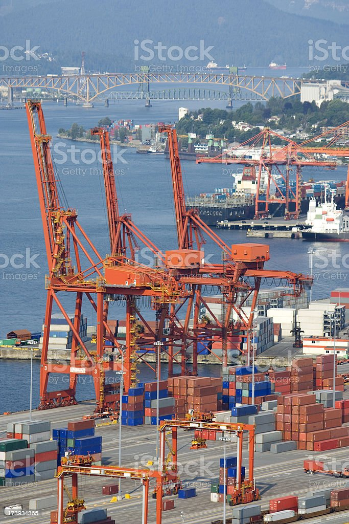 Cargo Container Shipping Port royalty-free stock photo