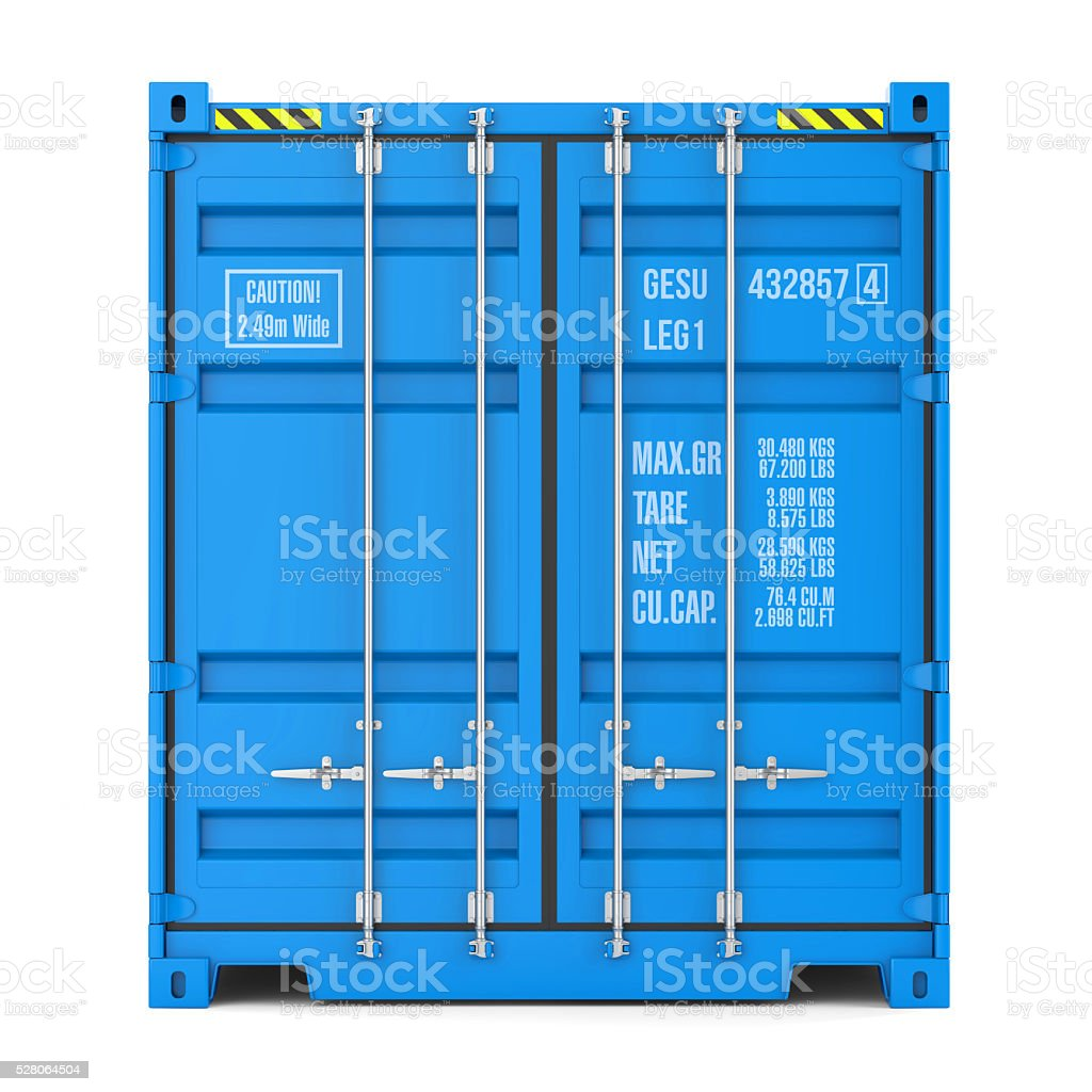 Cargo container texture, front view stock photo