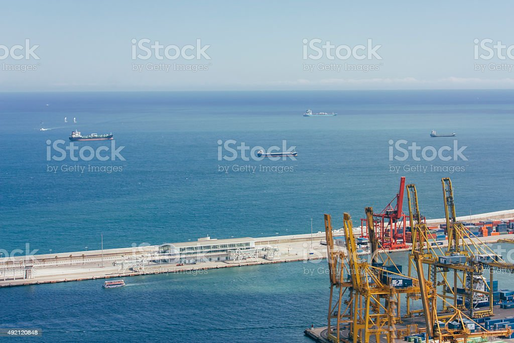 cargo containers, global cargo containers transportation business stock photo