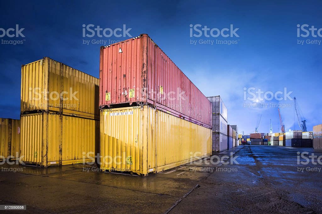 Cargo containers stock photo