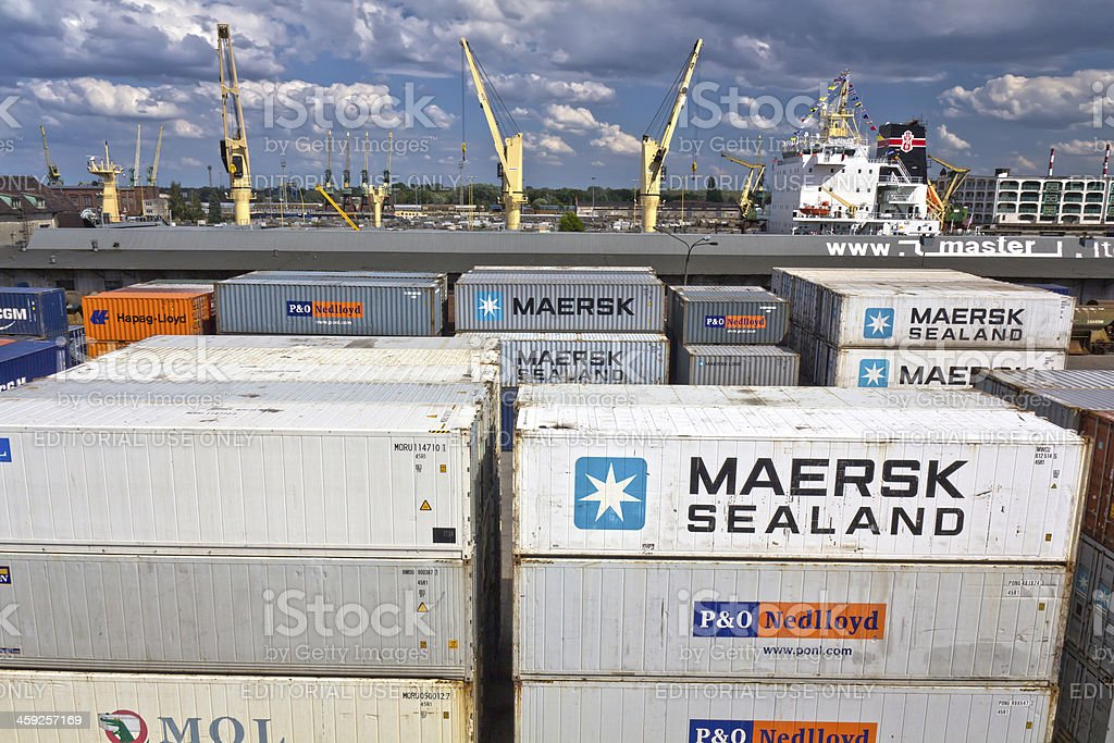 Cargo Containers terminal royalty-free stock photo