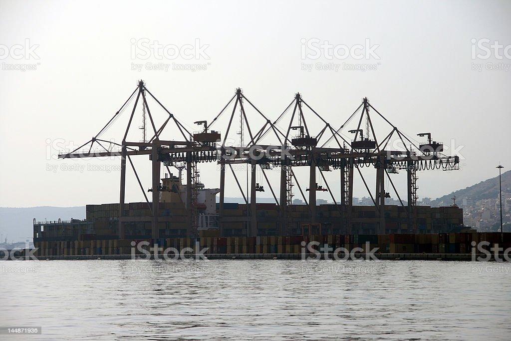 cargo cranes royalty-free stock photo