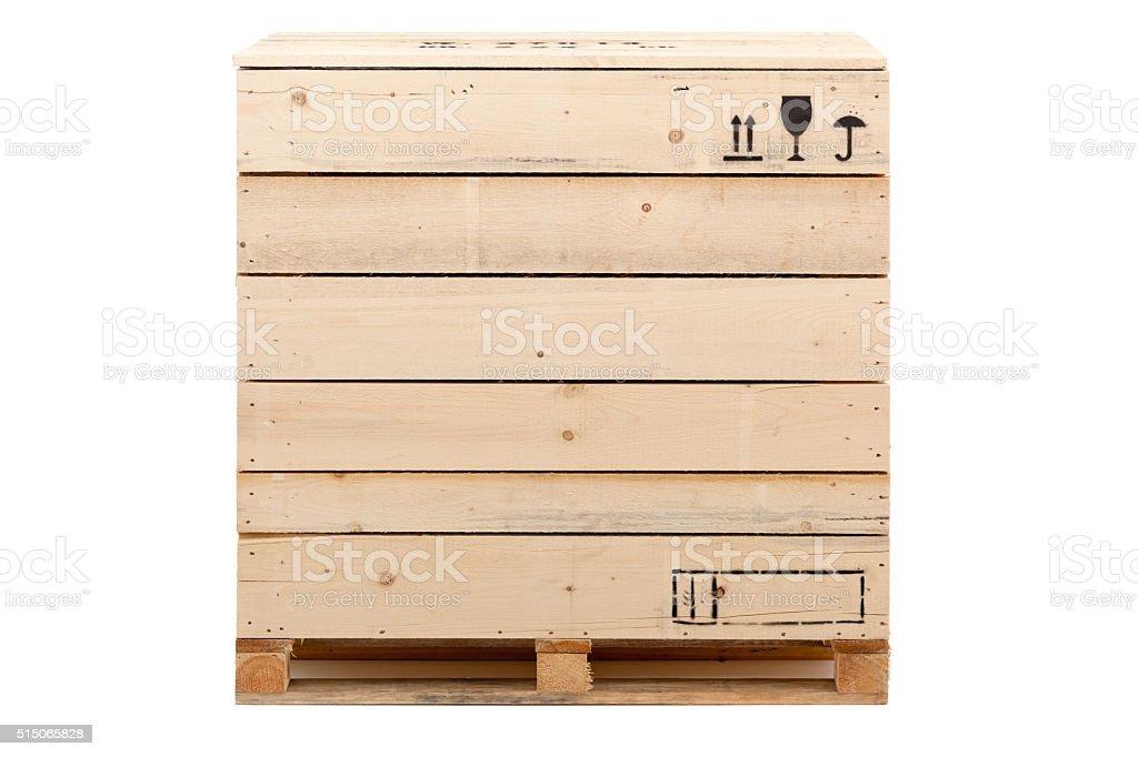 cargo crate on white stock photo