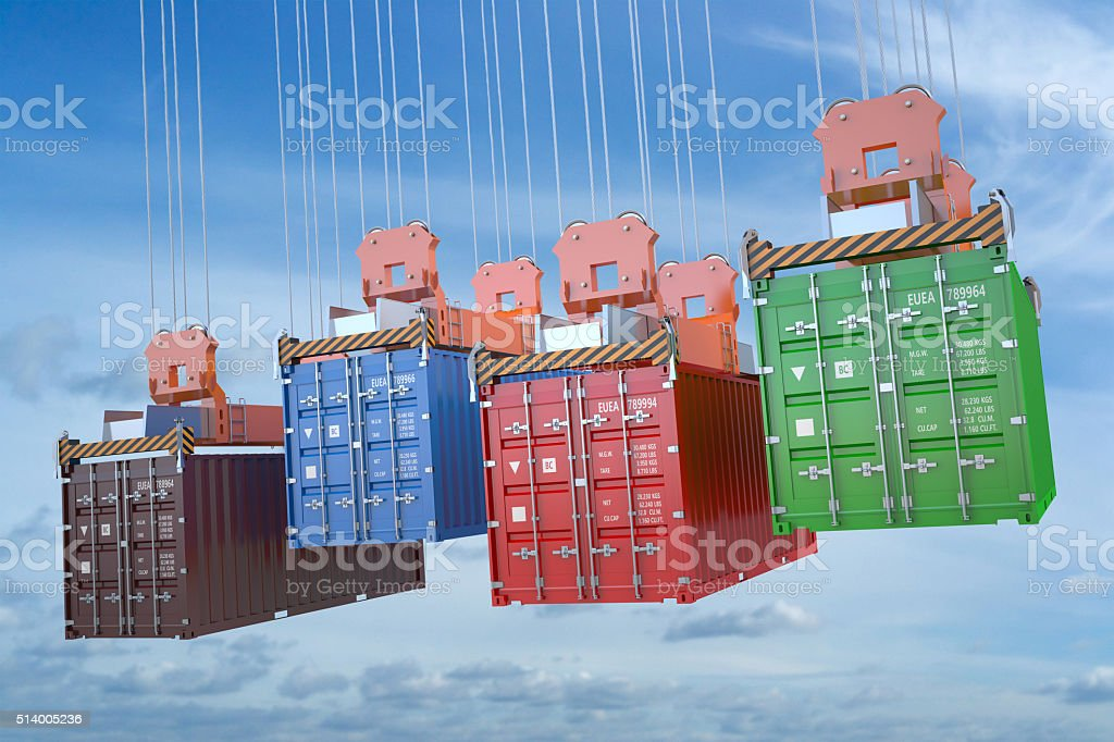 cargo delivery concept stock photo