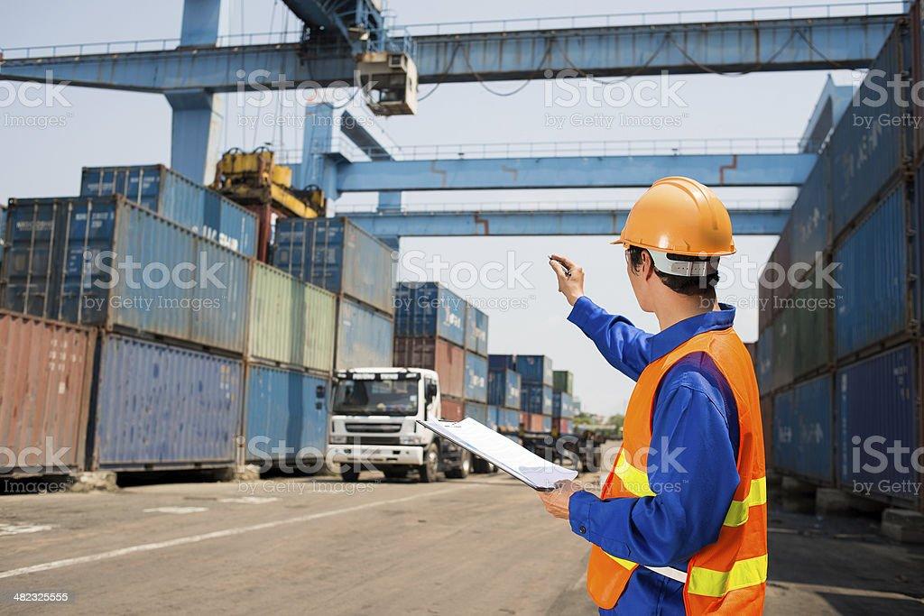 Cargo distribution stock photo