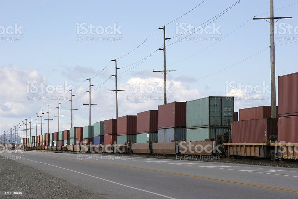 Cargo Freight Containers stock photo