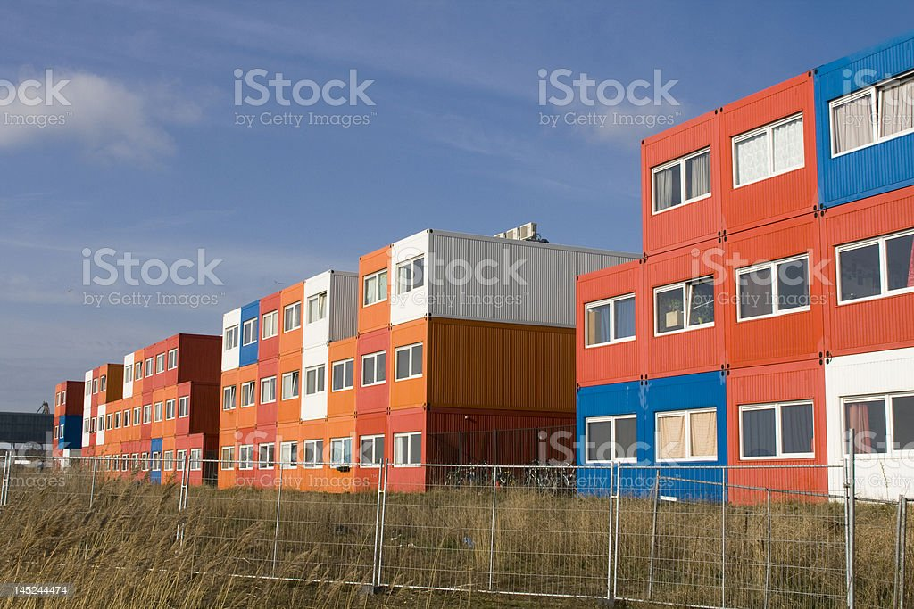 cargo homes stock photo
