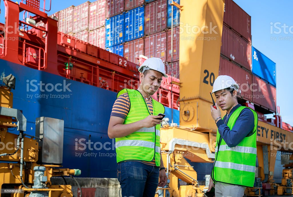 Cargo Industrial Team Working stock photo