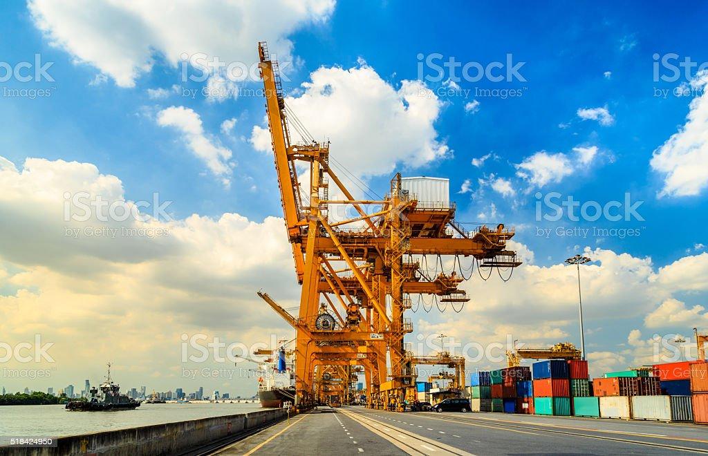 Cargo Pier stock photo