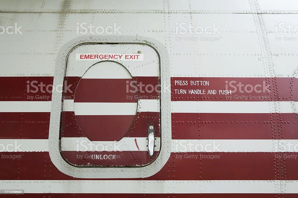 Cargo plane Emergency exit stock photo